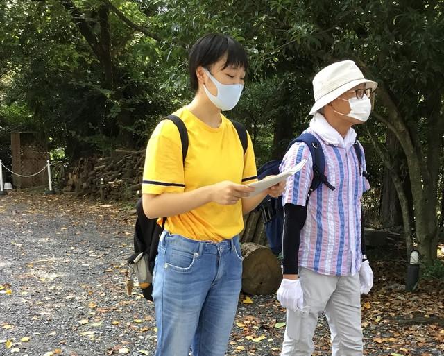 街歩き案内の宿題発表