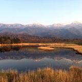 秋の知床連山