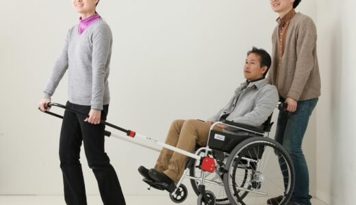 "Wheelchair mobility-enhancing attachment  – ""JINRIKI® """